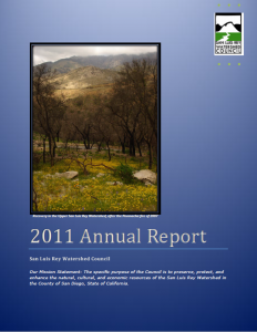 San Luis Rey Watershed Council Annual Report