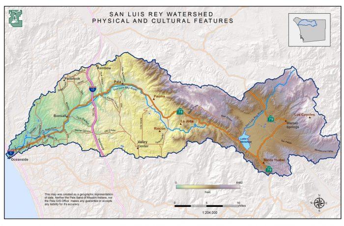 Map – San Luis Rey Watershed
